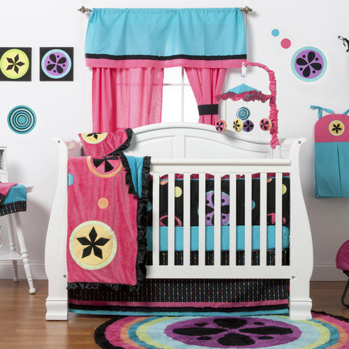One Grace PLace Magical Michayla 6 Piece Crib Bedding Set