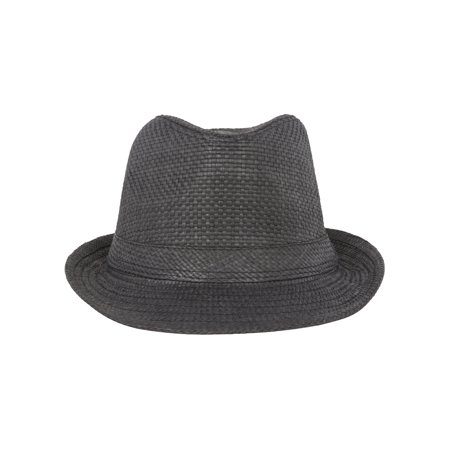 4863f42f641ec JFH Black Paper Fedora w  Band - image 1 of 2 ...