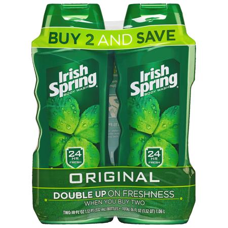 Irish Spring Body Wash for Men, Original - 18 ounce Twin Pack ()