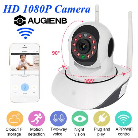 Smart Indoor Outdoor Wireless Vandal-Proof IP PTZ Camera HD 1080P WiFi Pan Tilt Zoom Security Camera IP66 Weatherproof SD Card Slot Night Vision Work for IOS, Android or