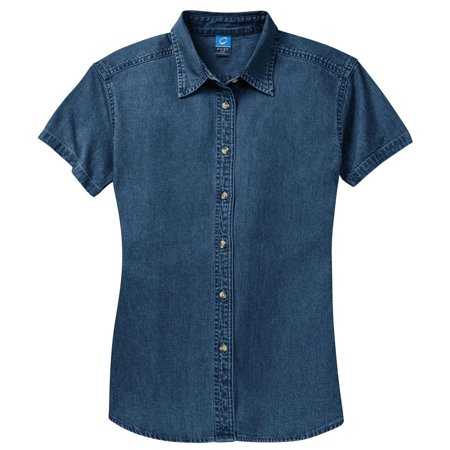 Port & Company Women's Short Sleeve Value Denim Shirt ()