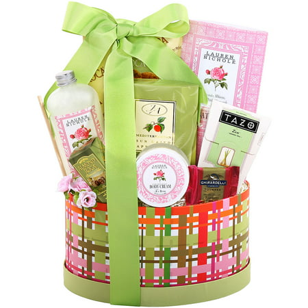 Alder Creek Gift Baskets Tea & Treats Oval Box, 8