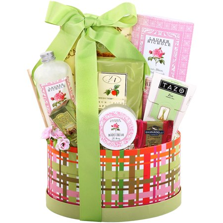 Alder Creek Gift Baskets Tea & Treats Oval Box, 8 pc