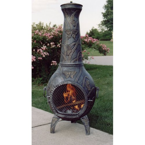 Perfect Oakland Living Butterfly Cast Iron Wood Burning Chiminea