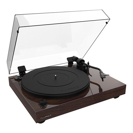 Fluance RT82 Reference High Fidelity Vinyl Turntable Record Player with Ortofon OM10 Cartridge, Speed Control Motor, Solid Wood Plinth, Vibration Isolation Feet - Walnut Ortofon Record Bag