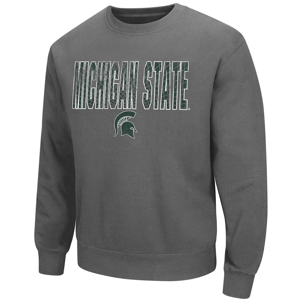 Mens Michigan State Spartans Crew Neck Sweatshirt by Colosseum