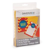 David Tutera Fiesta Party Invite & Thank You Note Combo (12)