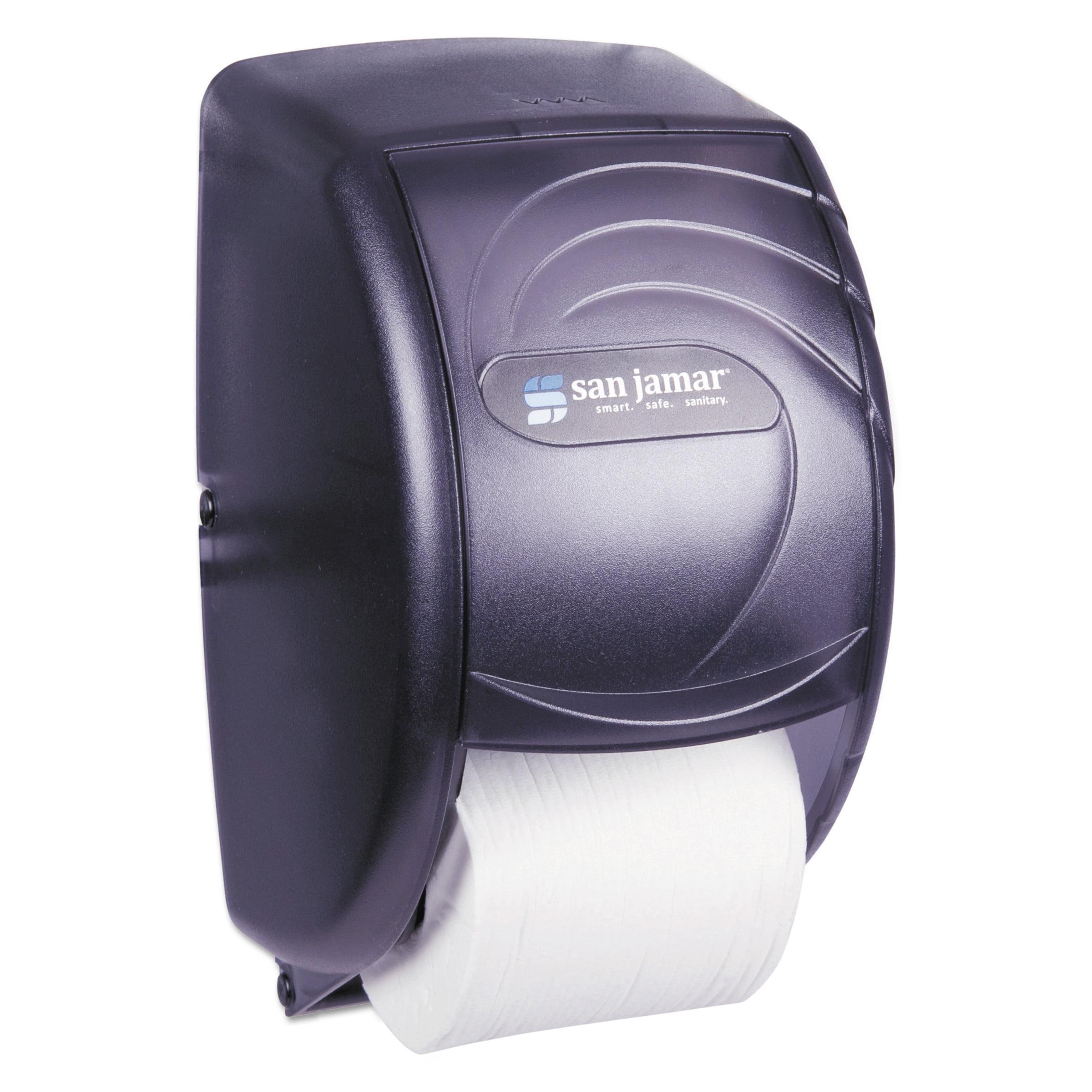 San Jamar Duett Standard Toilet Paper Dispenser, Oceans, 7 1/2 x 7 x 12 3/4, Black Pearl -SJMR3590TBK
