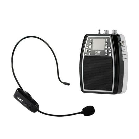 portable microphone amplifier pa speaker system built in battery headset mic fm radio. Black Bedroom Furniture Sets. Home Design Ideas