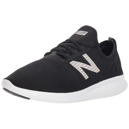 New Balance Mens Fuelcore Low Top Lace Up Trail Running, Black/White, Size