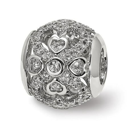 Sterling Silver Reflections CZ with Hearts Bead - image 1 de 1