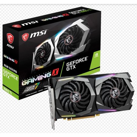 MSI Gaming GeForce GTX 1660 Ti 192-bit HDMI/DP 6GB GDRR6 HDCP Support DirectX 12 Dual Fan VR Ready OC Graphics Card (GTX 1660 TI Gaming X