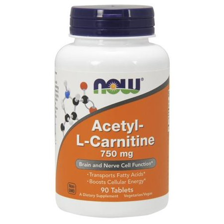 L-carnitine 90 Tabs (Acetyl L Carnitine 750 mg Now Foods 90)