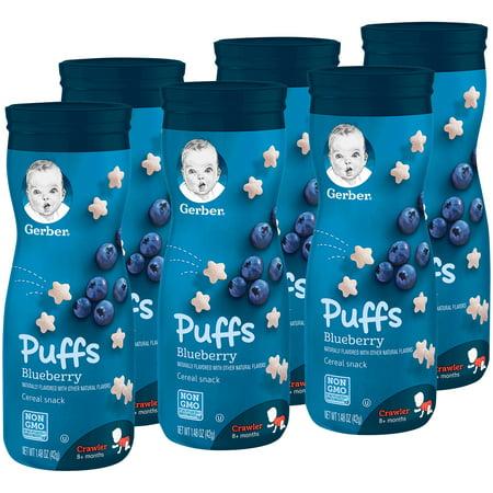 Gerber Puffs Blueberry, 1.48 oz. (Pack of (Natural Puff)