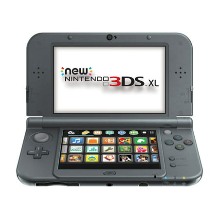 Refurbished Nintendo New 3DS XL Black Video Game Console with SD Card Stylus and (3ds R4 Card With Preloaded Games Uk)