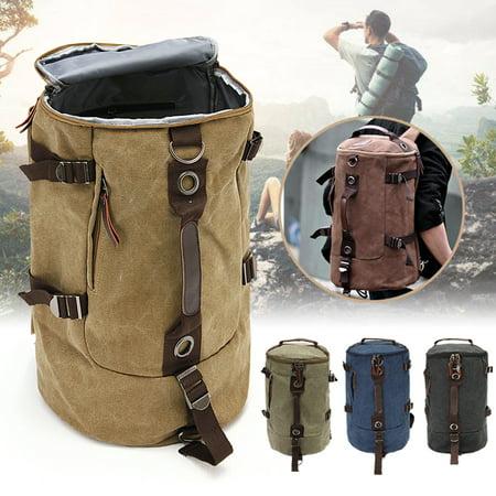 Gym Tote Bags (Men's Vintage Canvas Backpack Rucksack Tote School Bag Travel Gym Shoulder Bag Luggage Hand Bag Sports)