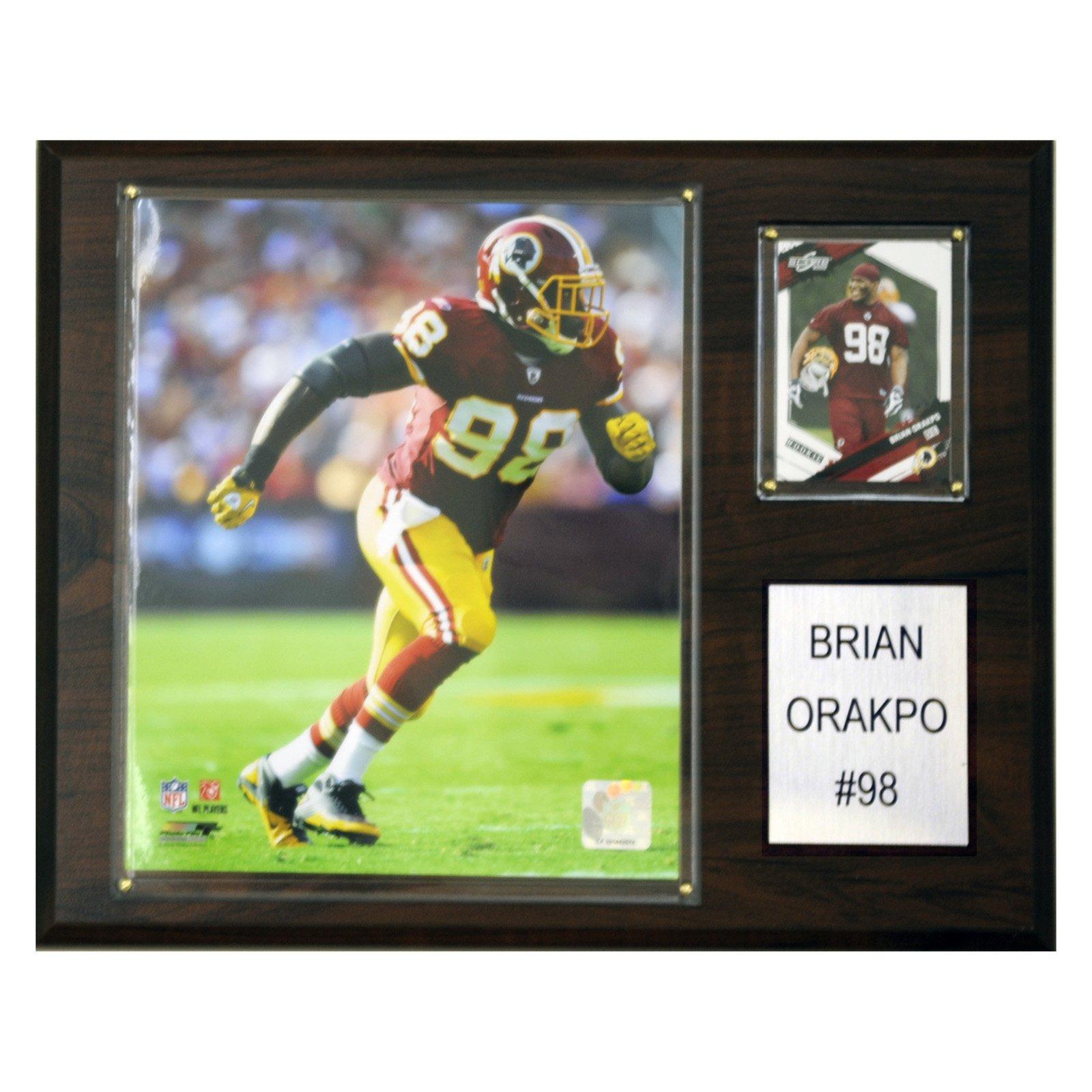 C&I Collectables NFL 12x15 Brian Orakpo Washington Redskins Player Plaque