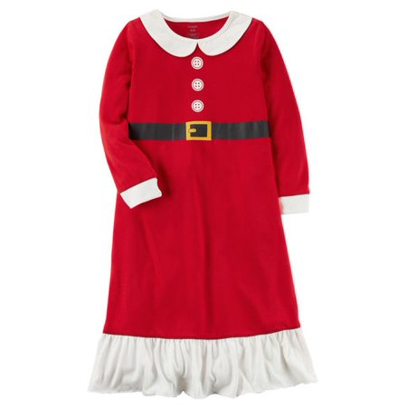 Girls' L/S Holiday Nightgown (Toddler/Kid)- Santa- - Holiday Nightgown
