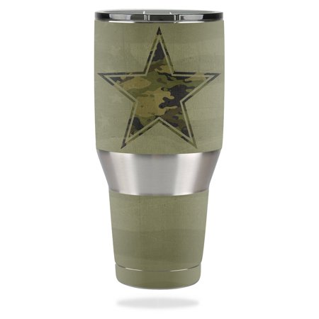 82c7b060d6e MightySkins Protective Vinyl Skin Decal for Ozark Trail 40 oz Tumbler wrap  cover sticker skins Army Star - Walmart.com