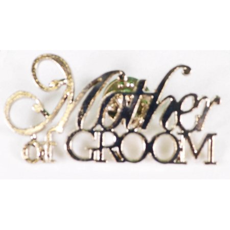 Mother Of The Groom Silver Pin Wedding Bridal Party Gift (Silver Flower Bridal Brooch)