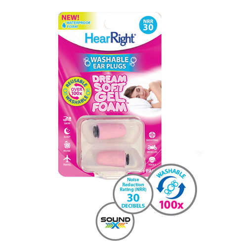 Hear Right Dream Soft Gel Foam Ear Plugs, 1 Pair, 3 Pack