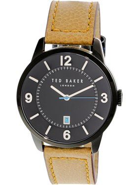 Ted Baker Men's Watch Black Leather Japanese Quartz 10031775