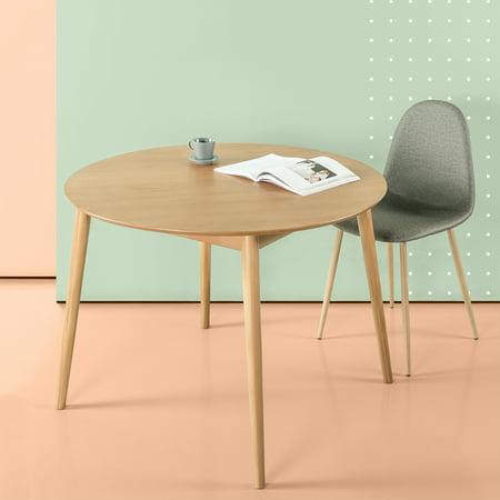 Zinus Mid-century Wood Round Dining Table, Pine ()
