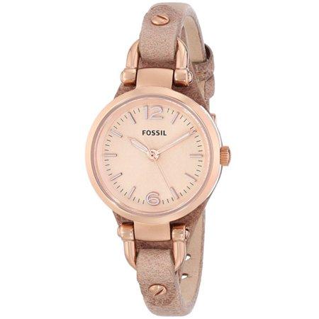 Fossil Set Wrist Watch - Fossil Women's Georgia Mini Leather Watch ES3262