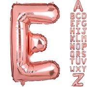 40 Inch Big Letter E Foil Balloons Rose Gold Large Alphabet Mylar Balloon for Birthday Party Decoration Wedding Decor Girls