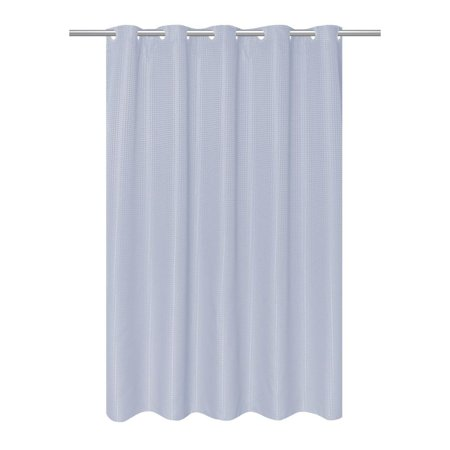 EZ-ON® Waffle Weave Fabric Shower Curtain with built in snap off liner in color Spa (Spa Fabric Shower)