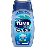 Tums Antacid Smoothies Peppermint Extra Strength 750mg Chewable 140 Each