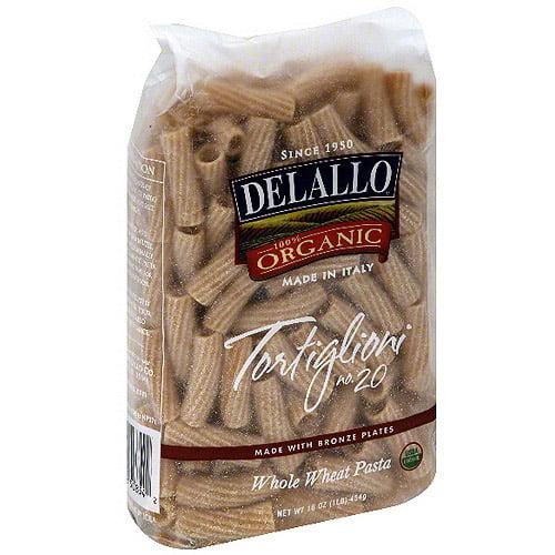 Delallo Whole Wheat Rigatoni, 16 oz (Pack of 16)
