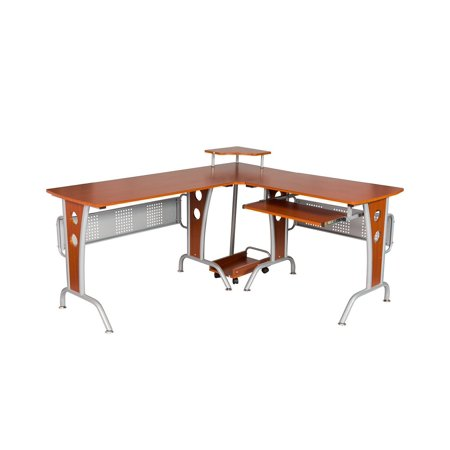 L-shaped Computer Tables - Buy-Hive L Shaped Corner Desk Office Home PC Laptop Computer Workstation Study Table