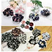 Iuhan 21PCS Chiffon Flower Scrunchies For Hair Velvet Women Ponytail Hair Accessories