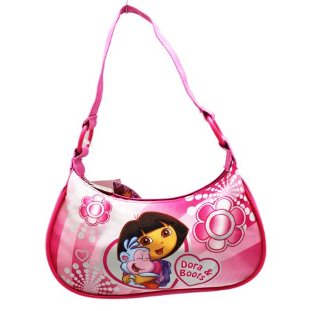 Dora the Explorer Dora and Boots Floral Theme Pink Kids Handbag