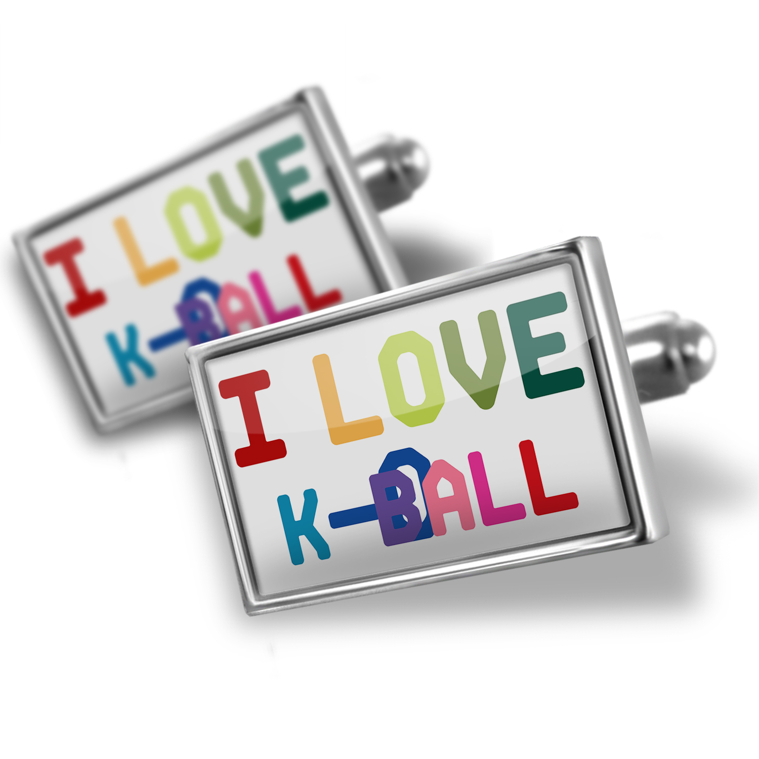 Cufflinks I Love K-Ball,Colorful - NEONBLOND