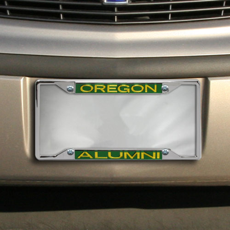 Dock Insert - Oregon Ducks Metal Alumni Inlaid Acrylic License Plate Frame
