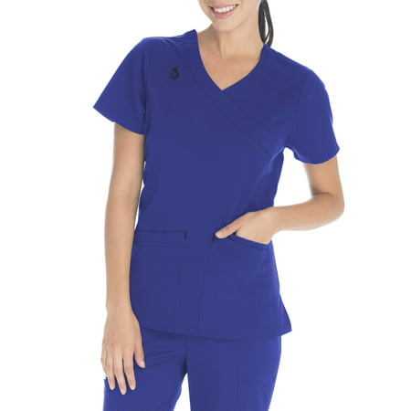 - Scrubstar Women's Premium Collection Stretch Mock Wrap Scrub Top