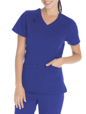 the best attitude 6936f f7a34 Product Image Scrubstar Women s Premium Collection Stretch Mock Wrap Scrub  Top