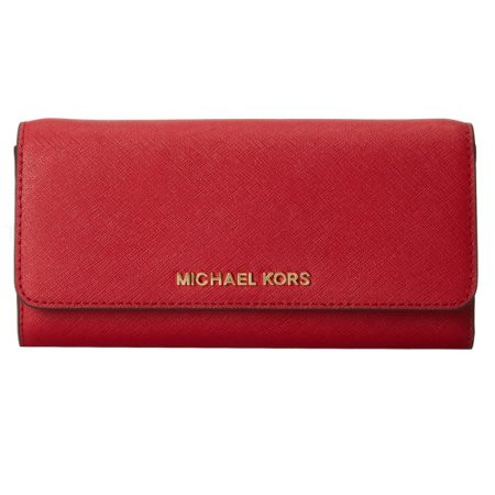 e687cb569910 MICHAEL Michael Kors - MICHAEL Michael Kors Jet Set Travel On a Chain  Leather Wallet - 32F4GTVC9L-600 - Walmart.com