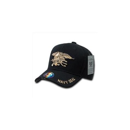 Navy Block - RapDom Navy Seals The Legend Milit. Mens Cap [Black - Adjustable]