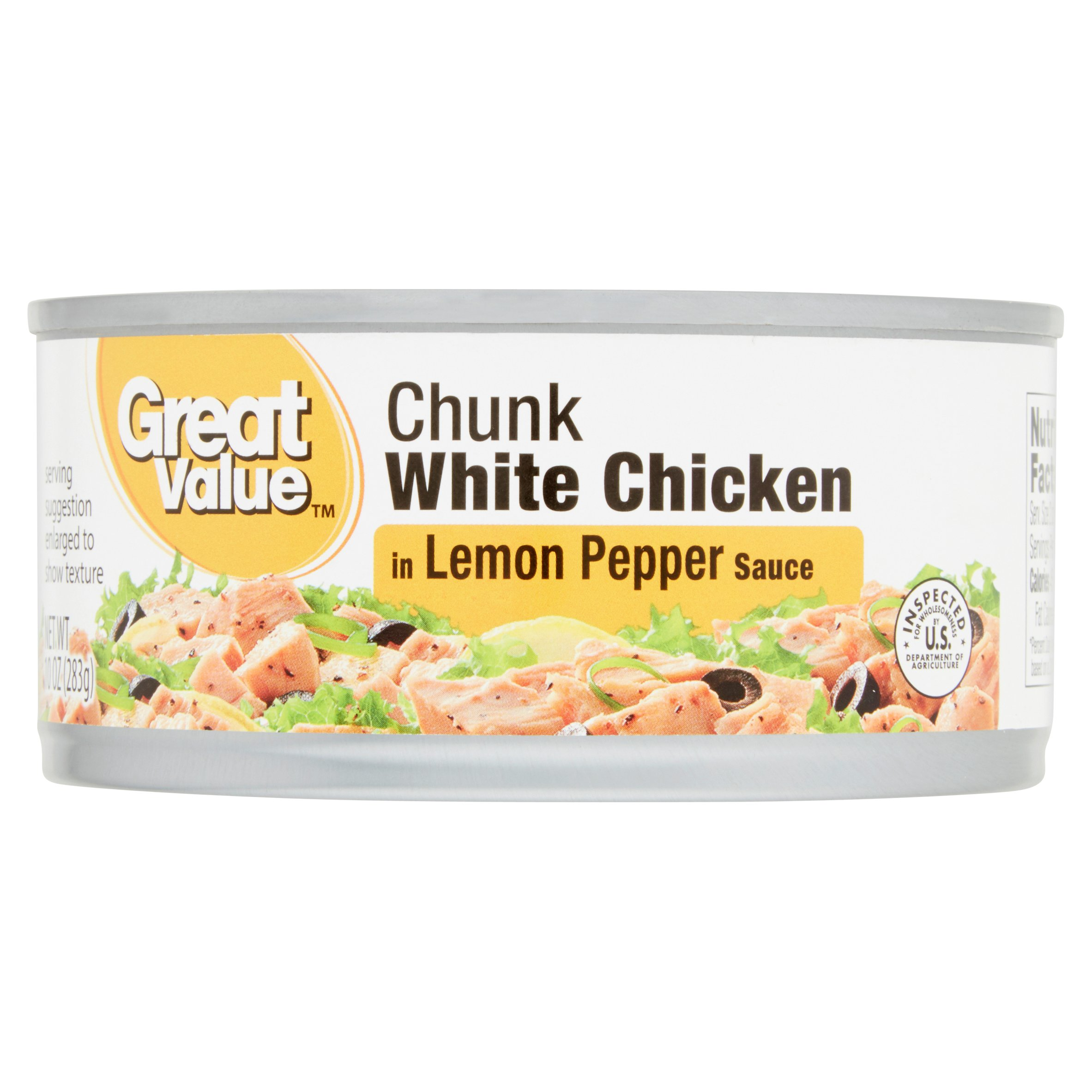 Great Value Chunk White Chicken in Lemon Pepper Sauce, 10 oz by Wal-Mart Stores, Inc.