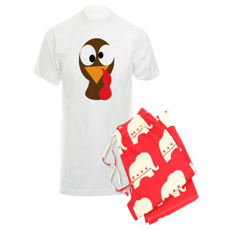 43afec90 CafePress - CafePress - Funny Turkey Thanksgiving Face - Men's Light  Pajamas - Walmart.com