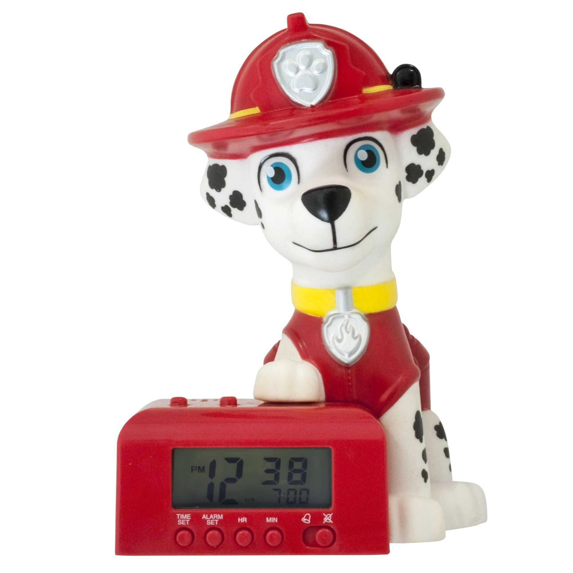 BulbBotz??? PAW Patrol??? Marshall??? Night Light Alarm Clock (6 inch)