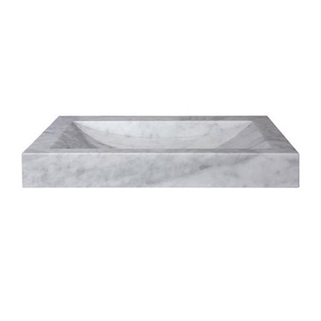 Ryvyr Svt240wtnd Stone Vanity Top With Integrated Bowl White Carrara Marble 24 In