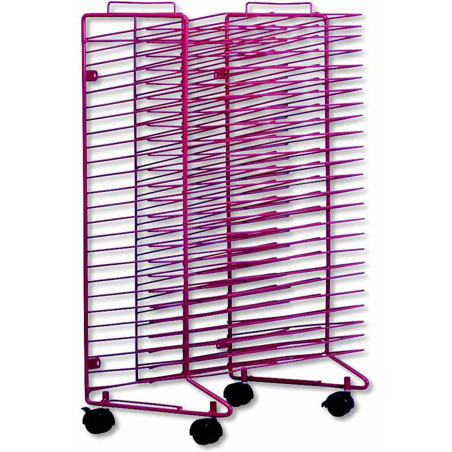 "Sax Stack-a- Rack Drying Rack, 30"" x 21"" x 17"", Red"