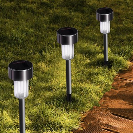 Eecoo Led Solar Pathway Lights Stainless Steel Solar
