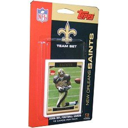Reggie Bush Draft (2006 Topps NFL Football Team Set - New Orleans Saints (R. Bush #25) - Reggie Bush (RC) Rookie Card (12 Cards) - LIMITED EDITION - VERY)