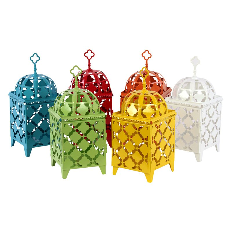 Benzara Dome Top Metal Lantern -Set of 6