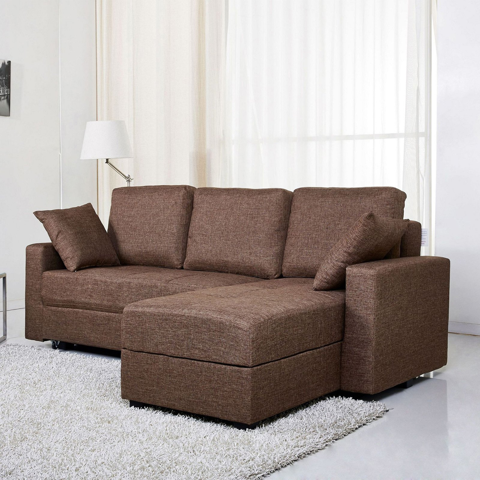 Gold Sparrow Aspen Fabric Convertible Storage Sectional Sofa